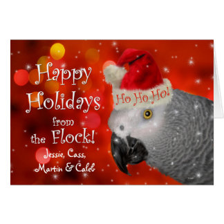 African Grey Parrot | Christmas Card