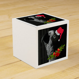 African Grey Parrot Christmas Wedding Favor Boxes