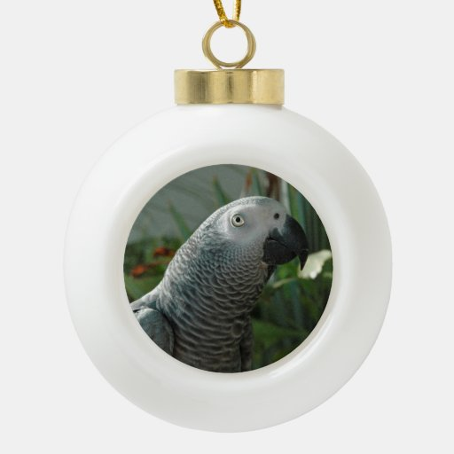 African Grey Parrot Christmas Ornament Ornaments