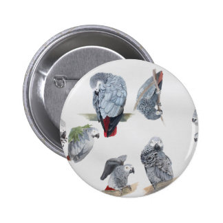 African Grey Parrot Exclusive designed by Griff Badge
