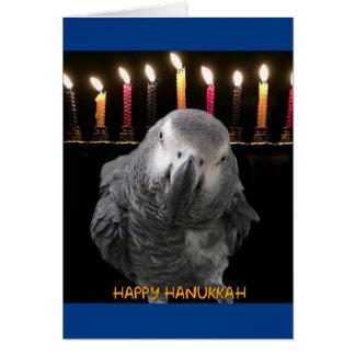 African Grey Parrot Hanukkah Cards