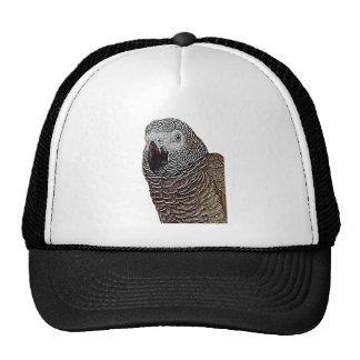 African Grey Parrot Trucker Hats