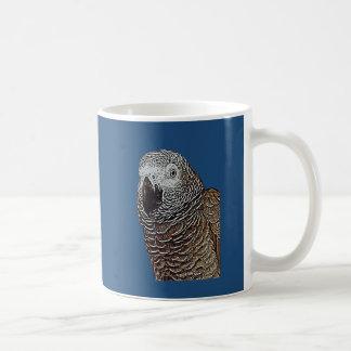 African Grey Parrot Coffee Mugs