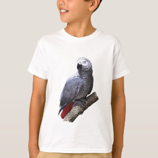 African Grey Parrot on Branch T-Shirt