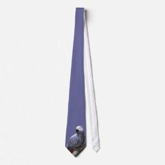 African Grey Parrot on Branch Tie