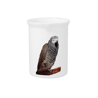 African Grey Parrot Pitcher
