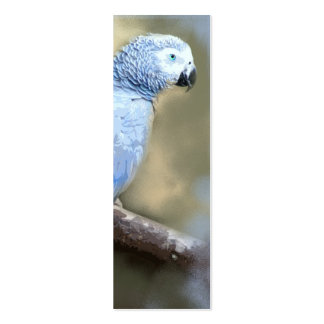 African Grey Parrot Portrait Bookmark Cards Pack Of Skinny Business Cards