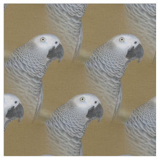 African Grey Parrot Profile Fabric