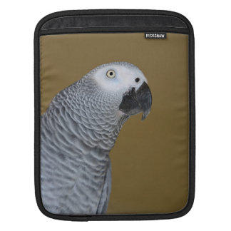 African Grey Parrot Profile Sleeves For iPads