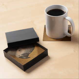 African Grey Parrot Drink Coaster