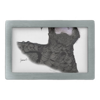 african grey parrot, tony fernandes rectangular belt buckles