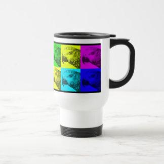 African Grey Pop Art Travel Mug