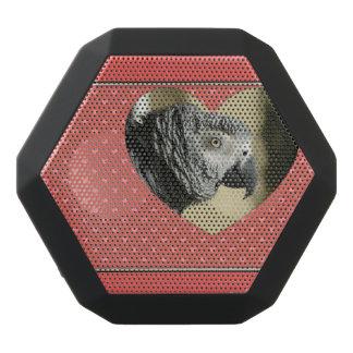 African Grey Vintage Hearts Black Boombot Rex Bluetooth Speaker