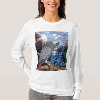 African Grey Waterfall T-Shirt