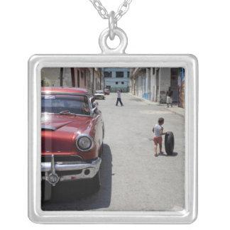 African Hamel district, Havana, Cuba, UNESCO Square Pendant Necklace