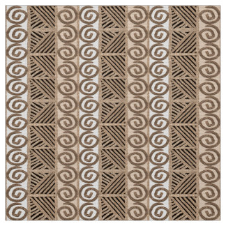 african hand-drawn ethnic pattern fabric