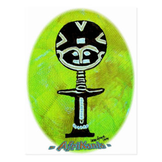 African icon: Akuaba (Ghana) Postcard