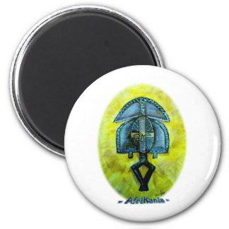 African icon: Kota (Gabon) 6 Cm Round Magnet