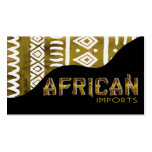 African Imports II - Afrocentric Kenyan mud cloth Pack Of Standard Business Cards