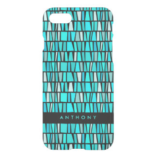 African Inspired Turquoise Domino Pattern iPhone 8/7 Case