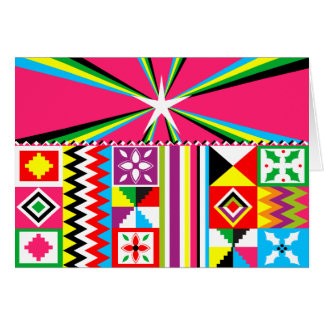 African Kente Cloth Pattern Tribal Print Card