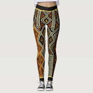 African Kuba Designer Leggings