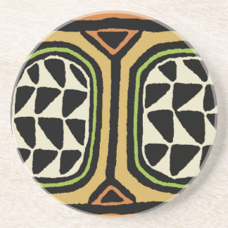 African Kuba Textile Design Coaster
