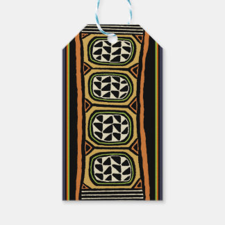 African Kuba Textile Design Gift Tags