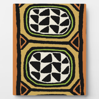 African Kuba Textile Design Plaque
