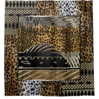 African Leopard In Motion Shower Curtain