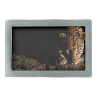 African Leopard Rectangular Belt Buckle