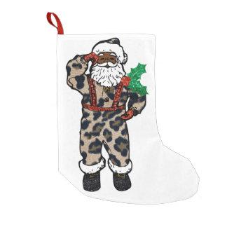 african leopard santa claus stocking
