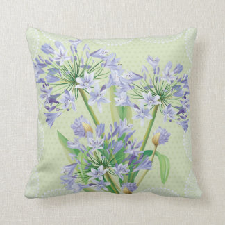 African lily floral pillow