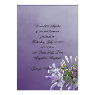 African Lily on Lavender Party Invitation