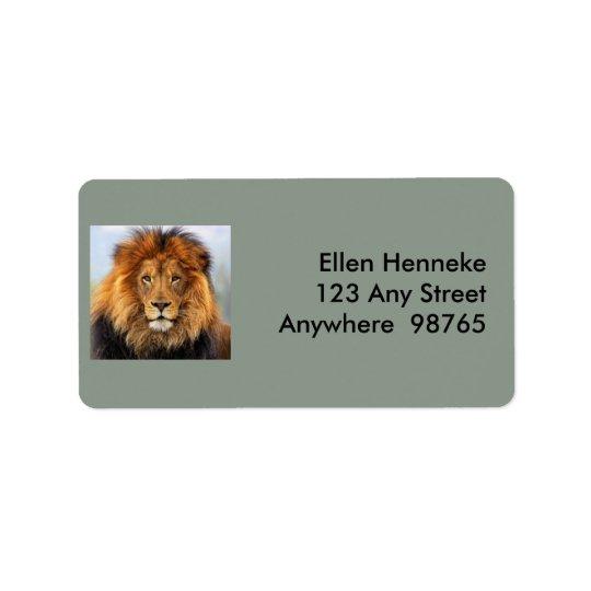 African Lion 1 Label