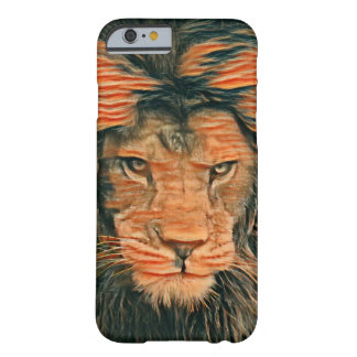 African Lion Colored Chalk Art iPhone 6/6s Case