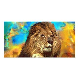 African-Lion-Digital Art Photo Greeting Card
