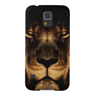 African Lion Face Art Galaxy S5 Cover