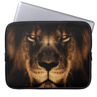African Lion Face Art Laptop Sleeve