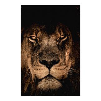 african lion mane close eyes stationery