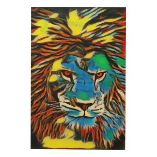 African Lion Oil Urban Graffiti Street Art
