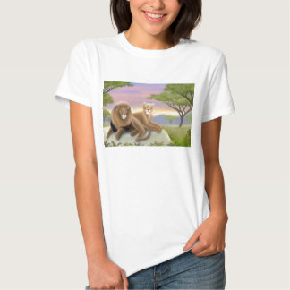 African Lions Ladies Babydoll Shirt