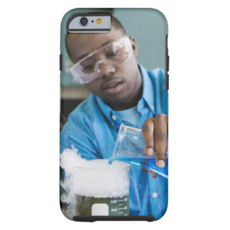 African man performing experiment in chemistry tough iPhone 6 case
