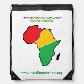 African Map Drawstring Backpack