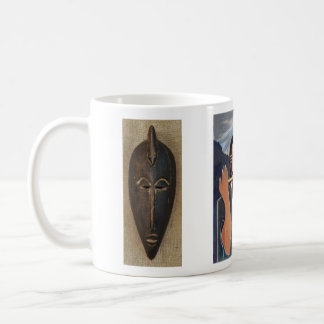 African Mask & African inspired picture. Coffee Mug
