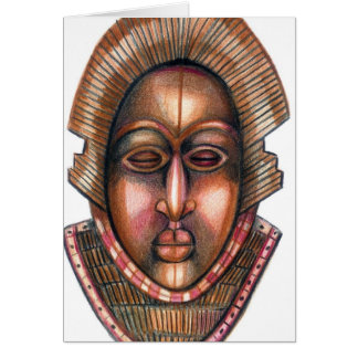 African Mask Card