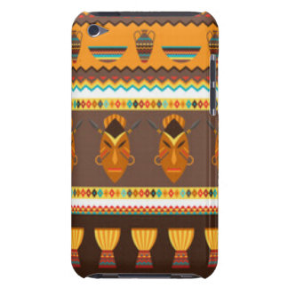 African Mask Drum Pattern Print Design Barely There iPod Cases