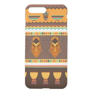 African Mask Drum Pattern Print Design iPhone 8 Plus/7 Plus Case