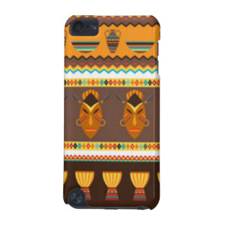 African Mask Drum Pattern Print Design iPod Touch 5G Cover