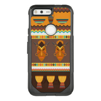 African Mask Drum Pattern Print Design OtterBox Commuter Google Pixel Case